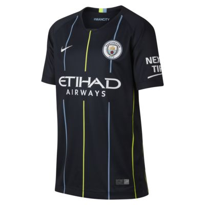 Camiseta de fútbol para niños talla grande de visitante Stadium del Manchester City FC 2018/19