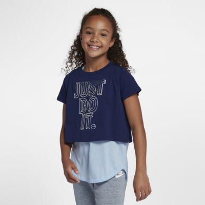 Укороченная футболка с графикой JDI для девочек школьного возраста Nike Sportswear