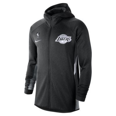 Pánská mikina NBA s kapucí Los Angeles Lakers Nike Therma Flex Showtime