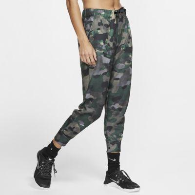 Pantalones de entrenamiento de tejido Fleece 7/8 para mujer Nike Dri-FIT Icon Clash
