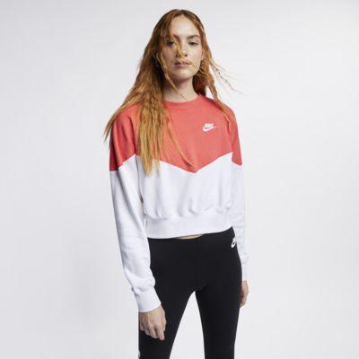 Fleecetröja med rund hals Nike Sportswear Heritage för kvinnor