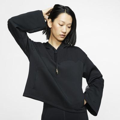 Sudadera con capucha de entrenamiento con franjas para mujer Nike