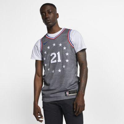 Maillot connecté Nike NBA Joel Embiid City Edition Swingman (Philadelphia 76ers) pour Homme