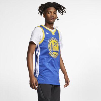 Мужское джерси Nike НБА Stephen Curry Icon Edition Authentic (Golden State Warriors) с технологией NikeConnect