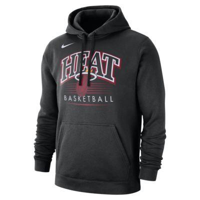 Sweat à capuche avec logo NBA Miami Heat Nike pour Homme