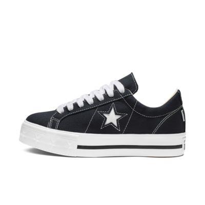 One Star Platform Canvas Star Low Top Womens Shoe