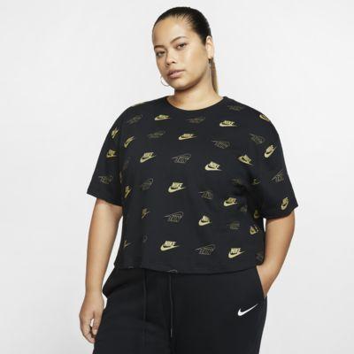 Nike Sportswear kortermet, kort overdel til dame (Plus Size)