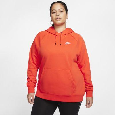 Felpa pullover in fleece con cappuccio Nike Sportswear Essential (Plus Size) - Donna