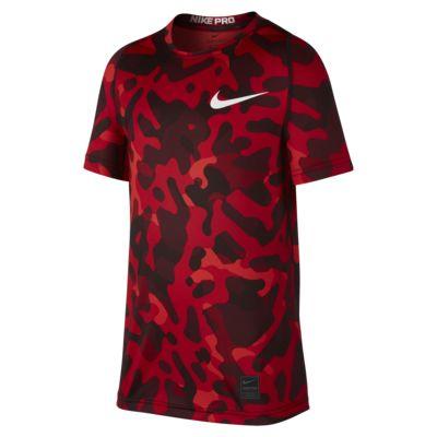 Nike Pro 大童(男孩)短袖印花训练上衣