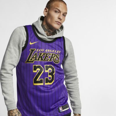 Maillot connecté Nike NBA LeBron James City Edition Swingman (Los Angeles Lakers) pour Homme