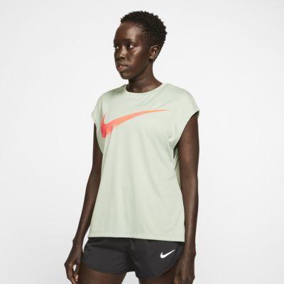 Nike Dri-FIT løpeoverdel med grafikk til dame