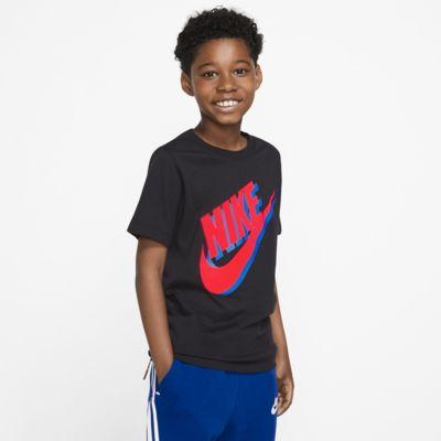 Купить Футболка для школьников Nike Sportswear, Черный/Яркий темно-красный/Голубой свет, 23411541, 12653467