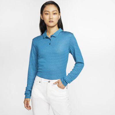 Nike Dri-FIT langarm-Golf-Poloshirt für Damen