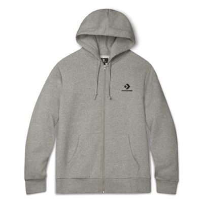 Converse Star Chevron Embroidered Men's Full-Zip Hoodie