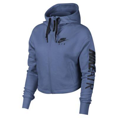 Felpa in fleece con cappuccio e zip a tutta lunghezza Nike Air - Donna