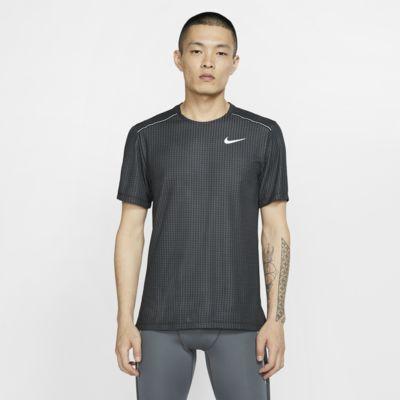 Kortærmet Nike Miler-løbeoverdel til mænd