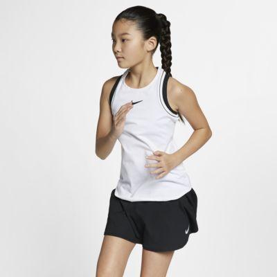 NikeCourt Dri-FIT tennissinglet til store barn (jente)