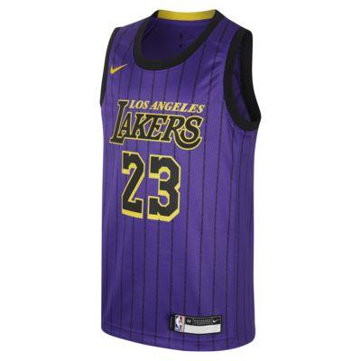 洛杉矶湖人队 City Edition SwingmanNike NBA Jersey大童(男孩)球衣