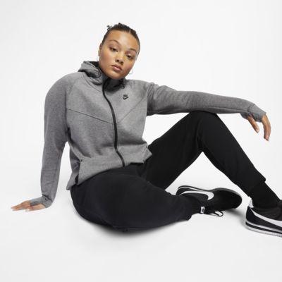 Женская худи с полноразмерной молнией Nike Sportswear Tech Fleece (большие размеры)