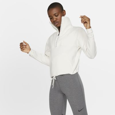 Nike Pro Fleece-Kurzoberteil für Damen