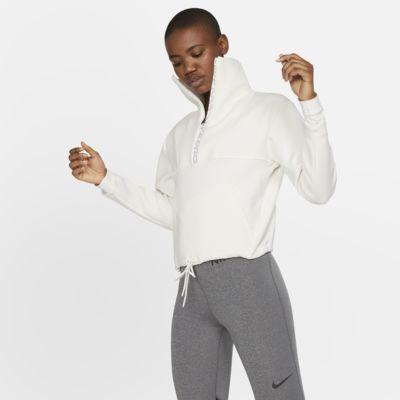Nike Pro Part superior curta de teixit Fleece - Dona