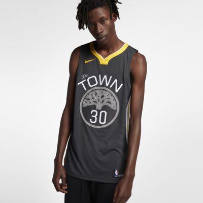 金州勇士队 (Stephen Curry) Statement Edition Authentic Nike NBA Connected Jersey 男子球衣