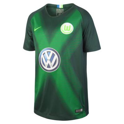 Maillot de football 2018/19 VfL Wolfsburg Stadium Home pour Enfant plus âgé