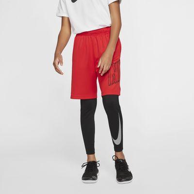 Nike Pro Warm大童(男孩)印花保暖训练紧身裤