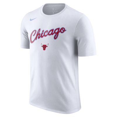 เสื้อยืด NBA ผู้ชาย Chicago Bulls City Edition Nike Dry