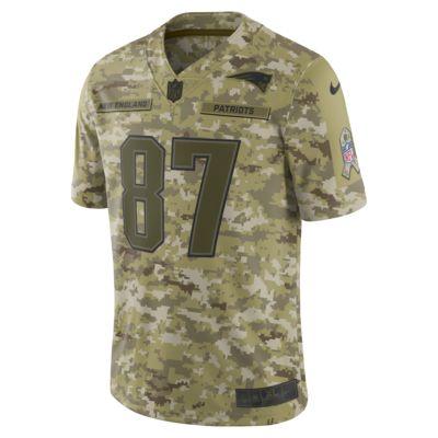 NFL New England Patriots Salute to Service (Rob Gronkowski) Big Kids' Football Jersey