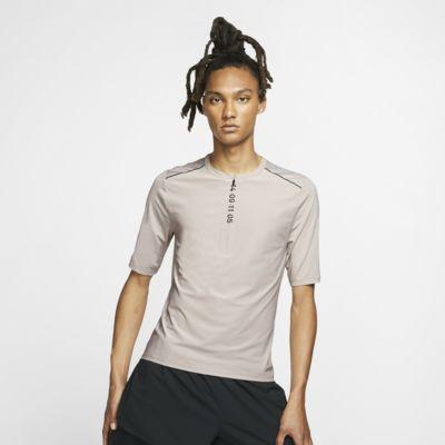 Nike Tech Pack Kurzarm-Laufoberteil mit Halbreißverschluss für Herren