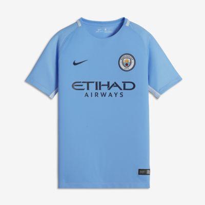 Купить Футбольное джерси для школьников 2017/18 Manchester City FC Stadium Home
