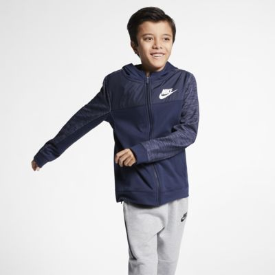 Sudadera con capucha de cierre completo para niño talla grande Nike Sportswear Advance 15