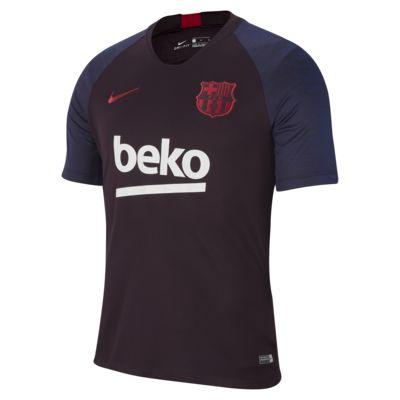 Kortærmet Nike Breathe FC Barcelona Strike-fodboldtrøje til mænd