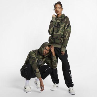 Skatehuvtröja med kamouflagemönster Nike SB Icon