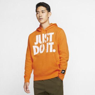 Nike Men's Soft Cotton Blend LS Black & Orange Just Do It