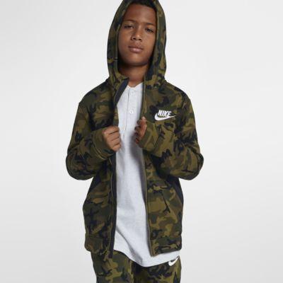 Nike Sportswear-Club-fleece-hættetrøje med lynlås til store børn (drenge)