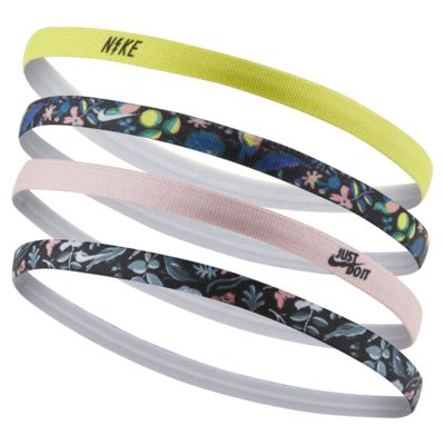 Nike Kid's Printed Headbands (4 Pack)