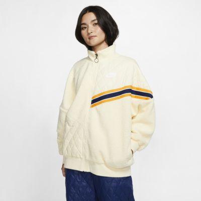 Casaco de treino de sherpa com fecho completo Nike Sportswear Nike Sports Pack para mulher
