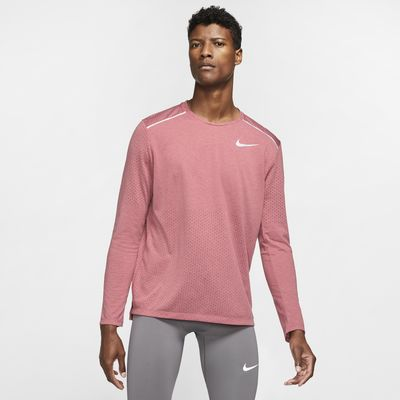 Langærmet Nike Rise 365–løbeoverdel til mænd