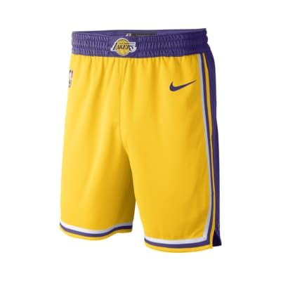 Los Angeles Lakers Icon Edition Swingman Nike NBA-Shorts für Herren