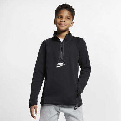 Nike Sportswear Tech Fleece-langærmet overdel til børn