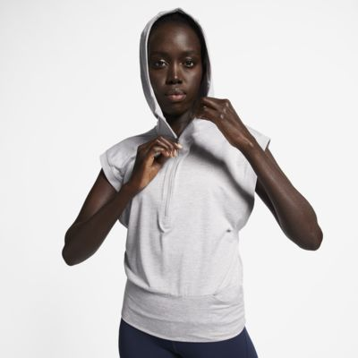 เสื้อวิ่งแขนกุดมีฮู้ดผู้หญิง Nike Element