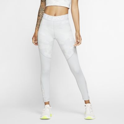 Nike Pro Icon Clash 7/8-tights met camouflageprint voor dames