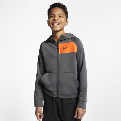 Nike Dri-FIT Trainings-Hoodie mit durchgehendem Reißverschluss für ältere Kinder
