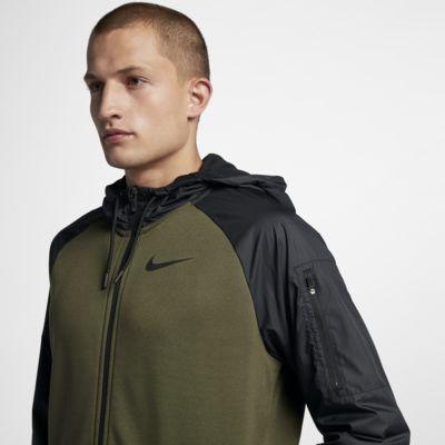 Ανδρική μπλούζα προπόνησης με κουκούλα και φερμουάρ Nike Dri-FIT