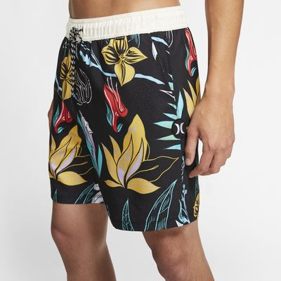 Shorts de playa de 43 cm para hombre Hurley Domino Volley