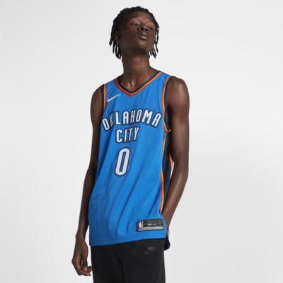 Купить Джерси Nike НБА Authentic Russell Westbrook Thunder Icon Edition, Синий, 19839324, 11818028