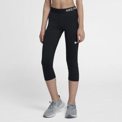 Trekvartslånga träningsbyxor Nike Pro för ungdom
