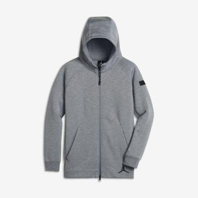 Jordan Icon Fleece - hættetrøje med lynlås til store børn (drenge)